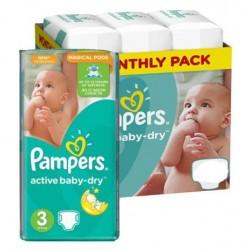 Pampers - Pack jumeaux 816 Couches Active Baby Dry taille 3 sur Le roi de la couche