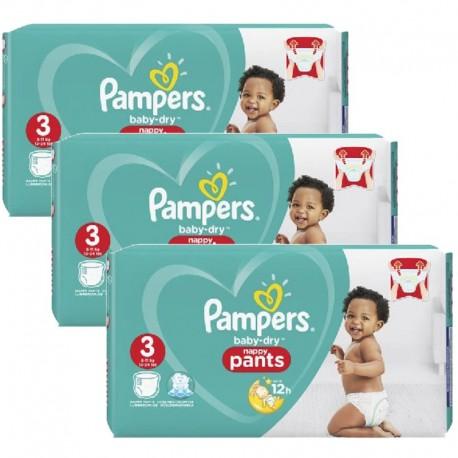 Pampers - Mega pack 156 Couches Baby Dry Pants taille 3 sur Le roi de la couche