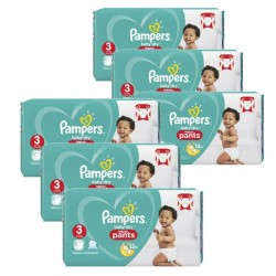 Pampers - Giga pack 208 Couches Baby Dry Pants taille 3