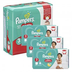 Pampers - Maxi mega pack 442 Couches Baby Dry Pants taille 3