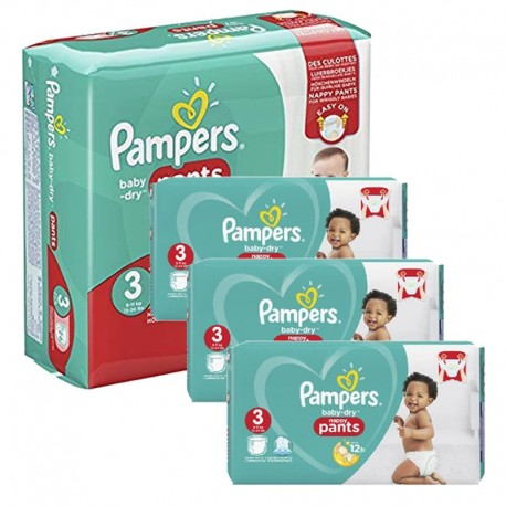 Pampers - Maxi mega pack 468 Couches Baby Dry Pants taille 3 sur Le roi de la couche