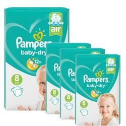 Pampers - Pack 60 Couches Baby Dry taille 8 sur Le roi de la couche