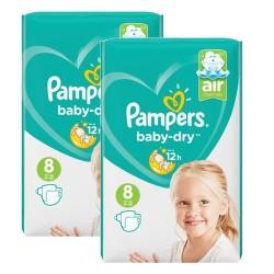 Pampers - Pack 80 Couches Baby Dry taille 8 sur Le roi de la couche