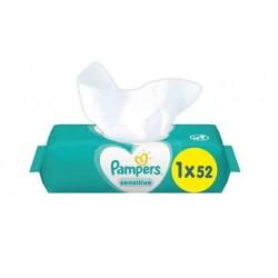 Pampers - Pack 52 Lingettes Bébés Sensitive sur Le roi de la couche