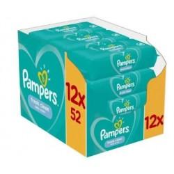 Pampers - Pack jumeaux 520 Lingettes Bébés Fresh Clean sur Le roi de la couche