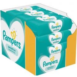 Pampers - Pack jumeaux 1144 Lingettes Bébés Sensitive sur Le roi de la couche
