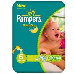 Pampers - Pack 31 Couches Baby Dry taille 6 sur Le roi de la couche