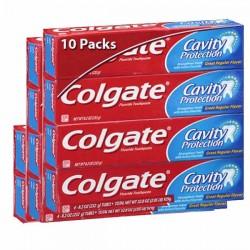 Colgate - Maxi Pack de 10 Dentifrices Cavity Protection sur Le roi de la couche
