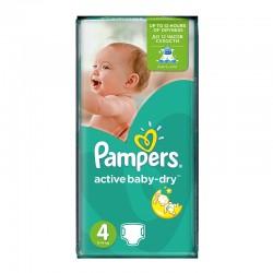 Pampers - Pack 70 Couches Active Baby Dry taille 4 sur Le roi de la couche