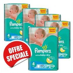 Pampers - Maxi mega pack 420 Couches Active Baby Dry taille 4 sur Le roi de la couche