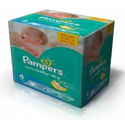 Pampers - Maxi mega pack 490 Couches Active Baby Dry taille 4 sur Le roi de la couche