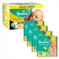 Pampers - Pack jumeaux 720 Couches New Baby Dry taille 2