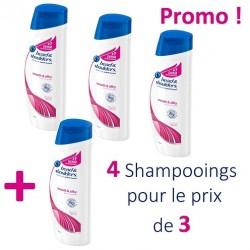 Head & Shoulders - Pack 4 Shampooings Antipelliculaire Lisse et Soyeux - 4 au prix de 3 sur Le roi de la couche