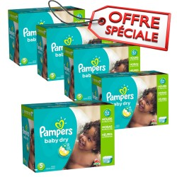 Pampers - Giga pack 230 Couches Baby Dry taille 5 sur Le roi de la couche