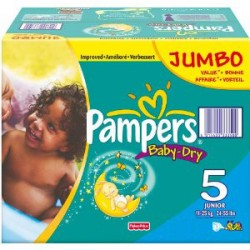 Pampers - Giga pack 253 Couches Baby Dry taille 5 sur Le roi de la couche