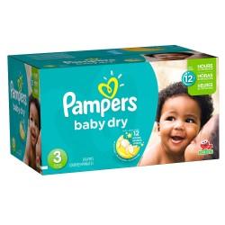 Pampers - Pack 360 Couches Baby Dry taille 3 sur Le roi de la couche