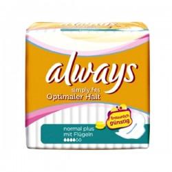 Always - Pack 36 Serviettes hygiéniques Simply Fits taille normal plus sur Le roi de la couche