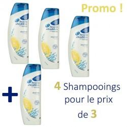 Head & Shoulders - Pack économique de 4 Shampooings Antipelliculaire Citrus Fresh - 4 au prix de 3 sur Le roi de la couche