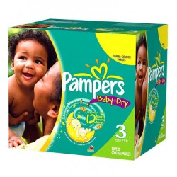 Pampers - Giga pack 270 Couches Baby Dry taille 3