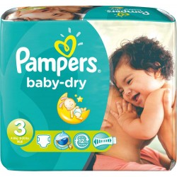 Pampers - 630 Couches Baby Dry taille 3