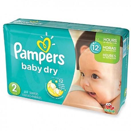 232 Couches Pampers Baby Dry Taille 2 à Bas Prix Sur Le Roi De La Couche