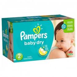 Pampers - Maxi Pack de 252 Couches Baby Dry taille 2 sur Le roi de la couche