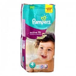 Pampers - Pack 52 Couches Active Fit taille 4 sur Le roi de la couche