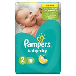 Pampers - Pack de 42 Couches Baby Dry taille 2 sur Le roi de la couche