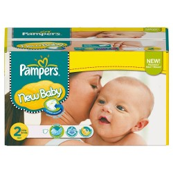 Pampers - Pack de 80 Couches New Baby taille 2
