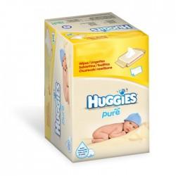 Huggies - Mega Pack 560 Lingettes Bébés Pure sur Le roi de la couche