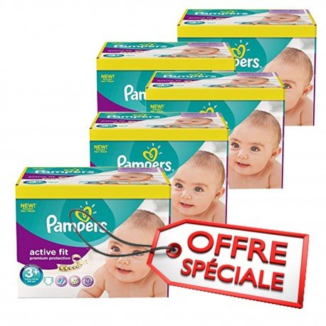 Pampers - Maxi Giga Pack Jumeaux 560 Couches Active Fit taille 3+ sur Le roi 661d65fbf56