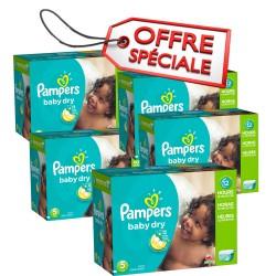 Pampers - Maxi giga pack jumeaux de 864 Couches Baby Dry taille 5 sur Le roi de la couche