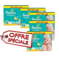 Pampers - Maxi pack jumeaux de 952 Couches New Baby Dry taille 2 sur Le roi de la couche