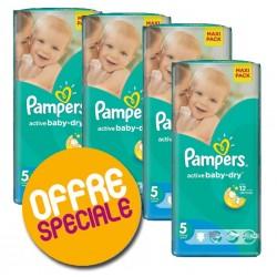 Pampers - Maxi Giga Pack 252 Couches Active Baby Dry 5 sur Le roi de la couche
