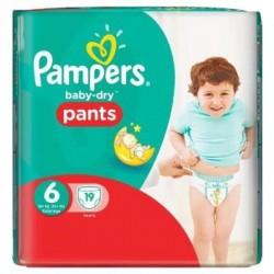 Pampers - Pack de 19 Couches Baby Dry Pants taille 6 sur Le roi de la couche