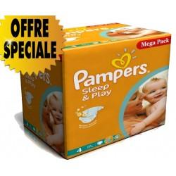 Pampers - Maxi Mega Pack 250 Couches Sleep & Play taille 4 sur Le roi de la couche