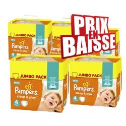 Pampers - Giga Pack de 550 Couches Sleep & Play taille 4 sur Le roi de la couche