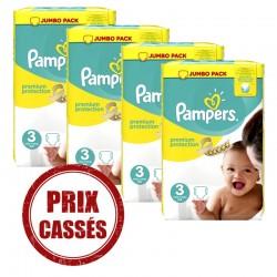 Pampers - Gros pack 232 Couches Premium Protection 3 sur Le roi de la couche