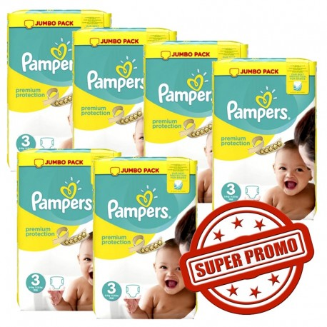 Pampers - Pack économique 435 Couches Premium Protection 3 sur Le roi de la couche