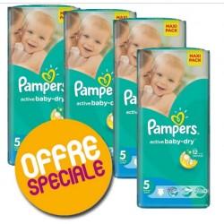 Pampers - Pack économique 232 Couches Active Baby Dry 5 sur Le roi de la couche