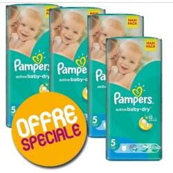 Pampers - Pack économique 504 Couches Active Baby Dry taille 5 sur Le roi de la couche