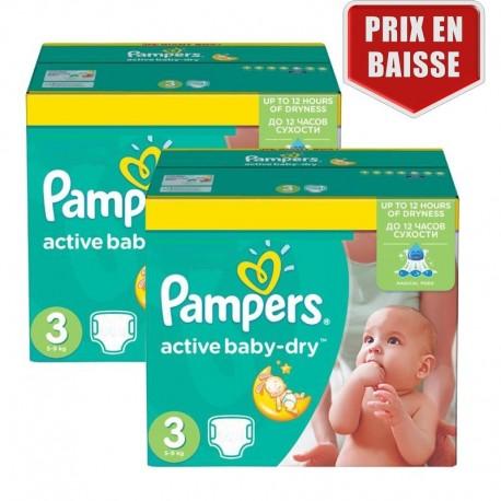 Pampers - Maxi Pack 410 Couches Active Baby Dry taille 3 sur Le roi de la couche