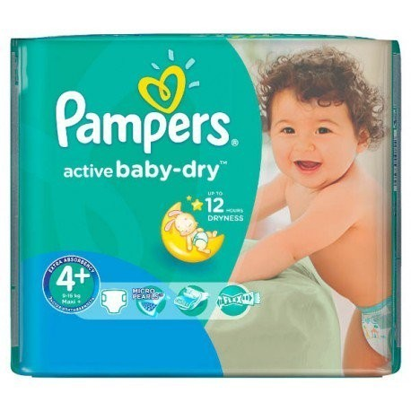 18 Couches Pampers Active Baby Dry Taille 4 A Bas Prix Sur Le Roi