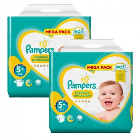 256 Couches Pampers Premium Protection Taille 5 En Promotion Sur Le