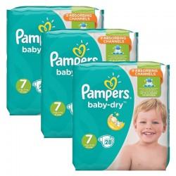 Pampers - Mega Pack 84 Couches Baby Dry taille 7 sur Le roi de la couche