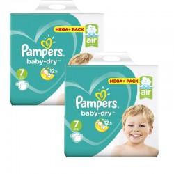 Pampers - Mega Pack 112 Couches Baby Dry taille 7 sur Le roi de la couche