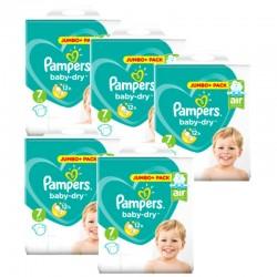 Pampers - Maxi Mega Pack 168 Couches Baby Dry taille 7 sur Le roi de la couche