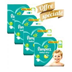Pampers - Maxi Giga Pack 308 Couches Baby Dry taille 7 sur Le roi de la couche