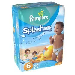 Pampers - Pack 21 Couches de bains Swimming Pants Splachers taille 6 sur Le roi de la couche