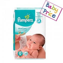 Pampers - Pack 38 Couches ProCare Premium protection taille 0 sur Le roi de la couche